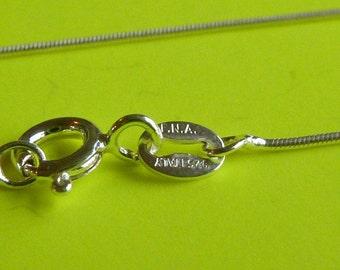2 pcs Sterling silver 16 inch italian snake chain