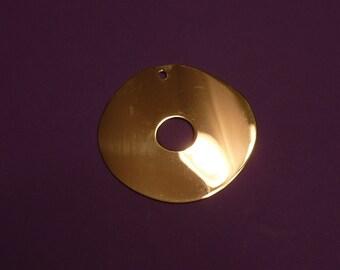 37 mm x 34 mm Gold Vermeil pendant