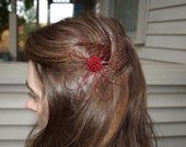 Red Wire Daisy Hair Pin