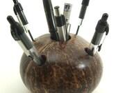Pen and Pencil Coconut Cup