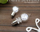 4Pcs Lovely Glass bottle pendants with a Loop on top(BL001)