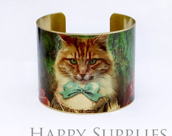 Last-Clearance Sale - New Technology - 1pcs (PBC001) Handmade Photo Brass Cuff Bracelet