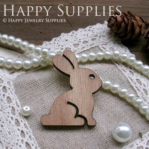 Last - BIG SALE - 4Pcs Handmade Lovely Rabbit Charms / Pendants (LC010)