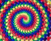 Spiral rainbow blanket