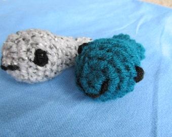 Crochet Whale Cat Toy