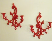 modern cottage candle sconce pair