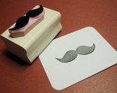 Bushy Mustache Hand Carved Rubber Stamp - Gift Moustache Lover - Moustache Gift - Mustache Gift - Beard Gift - Gift for Man - Fathers Day
