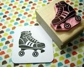 Roller Skate - Hand Carved Rubber Stamp - Roller Derby Gift - Retro Lover - 50s Stamper - Retro Party - Girl Present - Rollerblading - Sport