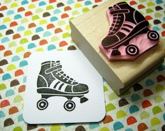 Roller Skate - Hand Carved Rubber Stamp