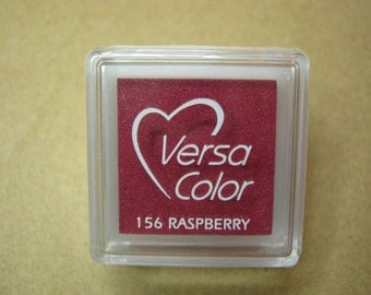 VersaColor Pigment Ink Pad Small in Raspberry  - Pink Inkpad - Ink for stamp - Inkpad for Rubber Stamp - Versa Color - Colour Ink Pad