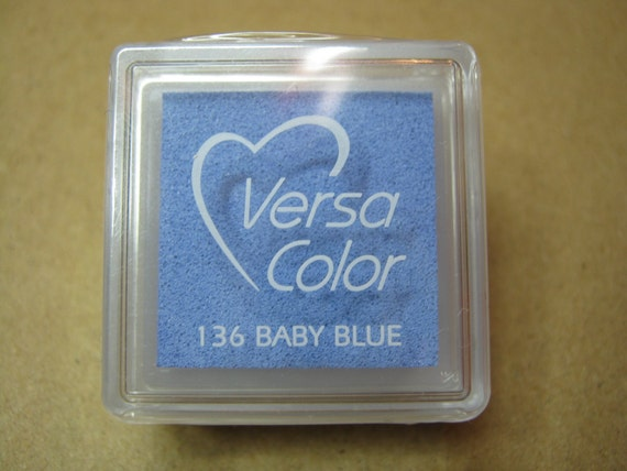 VersaColor Pigment Ink Pad Small in Baby Blue - Blue Inkpad - Ink for stamp - Pale Blue - Versa Color - Colour Ink Pad - Light Blue