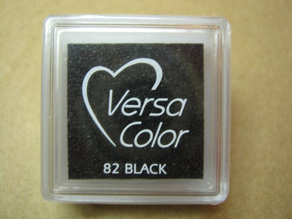 VersaColor Pigment Ink Pad Small in Black - Black Inkpad - Ink for stamp - Inkpad for Rubber Stamp - Versa Color - Colour Ink Pad