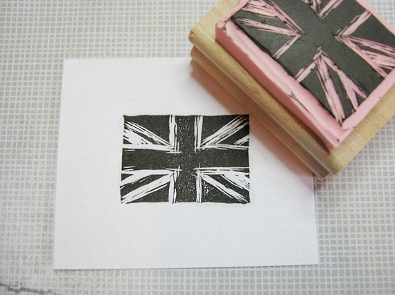 Distressed Union Jack Stamp - Union Flag Stamper - British Flag - Made in Britain - Craft Supplies - Scrapbooking - English - Business