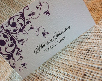 DIY Printable Place or Escort cards -  Any Design and includes Personalization