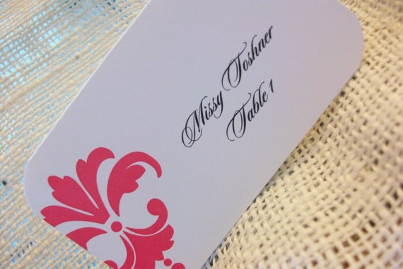 Wedding Place - Escort or Place Cards- SAMPLE .20 Custom Designs