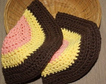 Set of 2 Round Dish Cloths