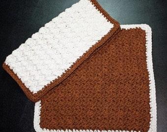 Pair of Crochet Dish\/Wash Cloths