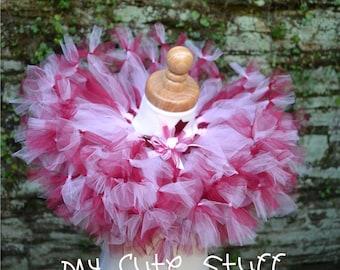Pink and Wine Princess Tutu and Elastic Headband - Sizes 6 to 24 Months - Birthday Tutu, Photo Props Tutu, Holidays Tutu, Baby Shower Gifts