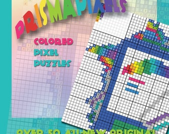 Mega PrismaPixels, Colored Pixel Puzzles - Book with over 50 original logic puzzles