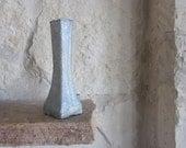 Gray Vase / Painted Bud Vase / Gray Home Decor