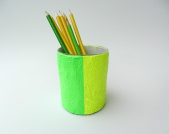 Color Block Neon Pencil Holder