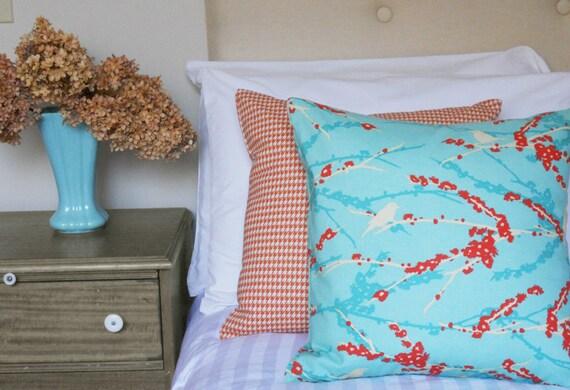 SALE - Joel Dewberry Aqua Decorative Pillow Cover - 18x18