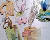 Ultra-Fancy lot of tags / Scrapbooking / Gifts / Handmade / Upcycled / Cheap shipping