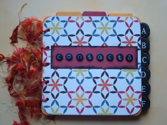Your Choice of Great handmade Address Book with Quick Reference Phone Tabs, Extra Labels, and a Fun Look