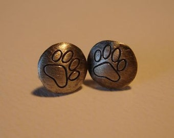 Wild Paw Stud Earrings Handmade from Sterling Silver