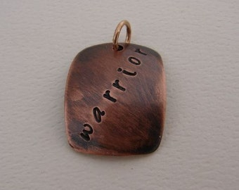 Copper Cancer Survivor Warrior Pendant