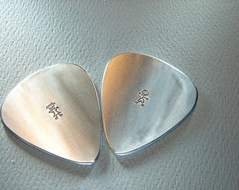 Aluminum Guitar Pick Set Ready to Personalize