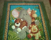 Quilt for Toddlers--ZOO Animals--Cute--UNIQUE