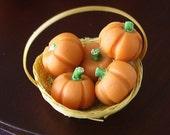 SALE Basket of Miniature Gourds- 1/12 scale