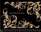Dusty Attic Chipboard Corner Flourish 1 da0628Scrapbooking Embellishment