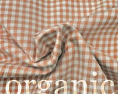 Organic Cotton Gingham - Half Yard - Chemical and Pesticide Free
