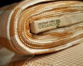 Organic Cotton Flannel Like Buffalo Check Fabric - Yardage - Fawn and Cream Check by Michael Miller Fabrics