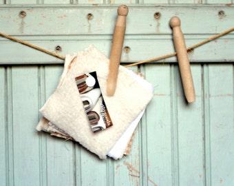 Organic Swatch Kit - Terry Sherpa Velour Fleece Sheeting French Terry - 6 Sample Organics