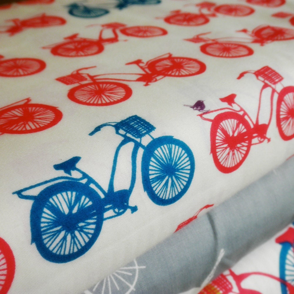 Organic Cotton Bicycle Fabric Fat Quarter by ...