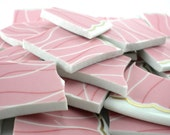 Mosaic Tiles Supply - Pink and Gold Large - Set of 100