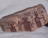 1/2 OFF Anthropomorphics Swell Panel and The Flying Carpet Panel Southwestern Petroglyphs Pictoglyphs Home Decor