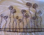 Barbed Wire Art Wild Flowers Wall Hanging Rustic Primitive Southwestern Home Decor