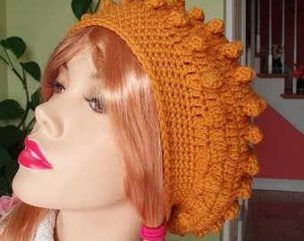 OLD GOLD WOOL BUBBLES BERET RASTA TAM HAT STYLE A ON SALE