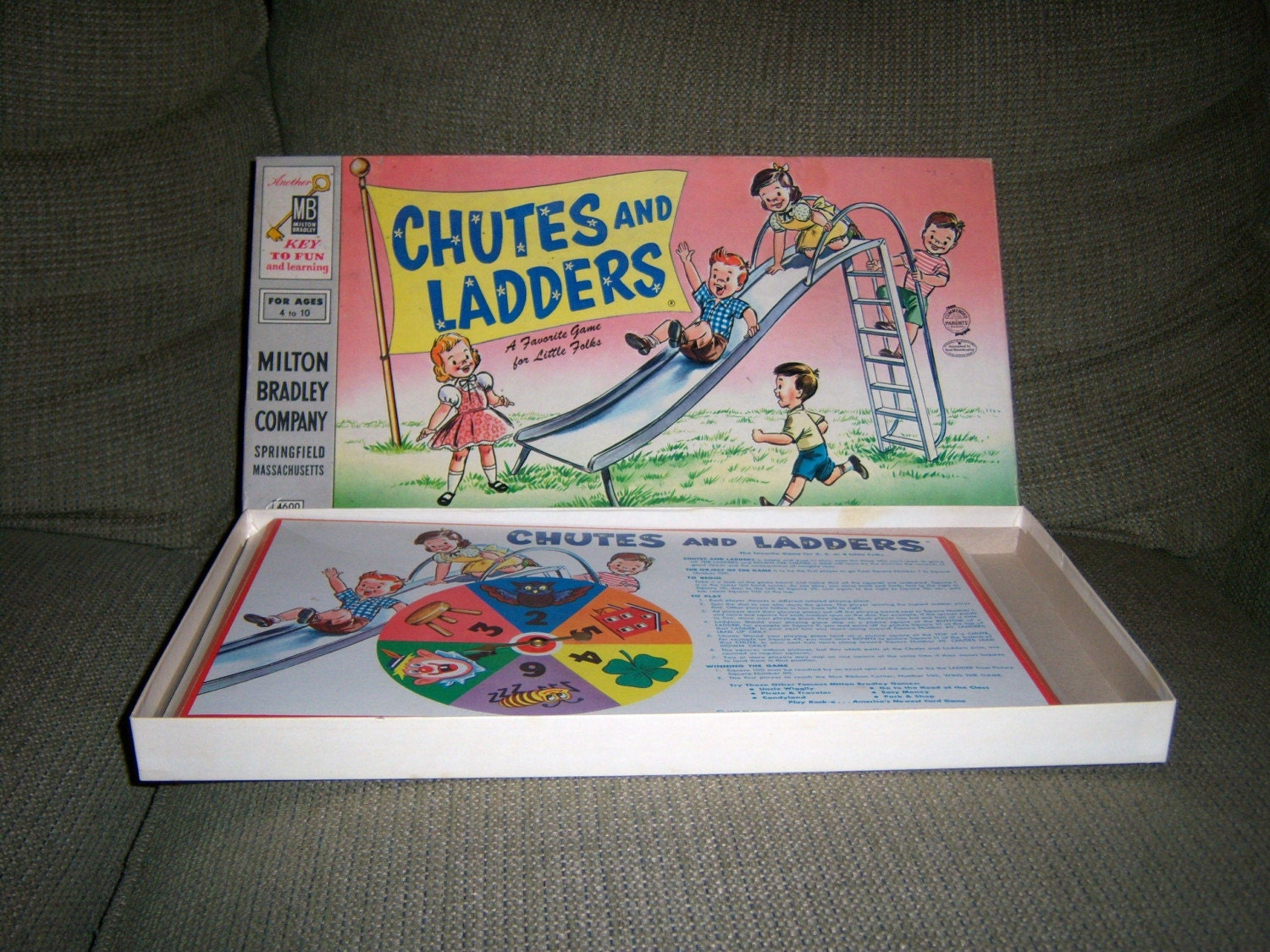 Chutes And Ladders 1956 Board Game