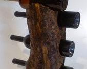 Rustic wooden Wine Rack with custom engraving