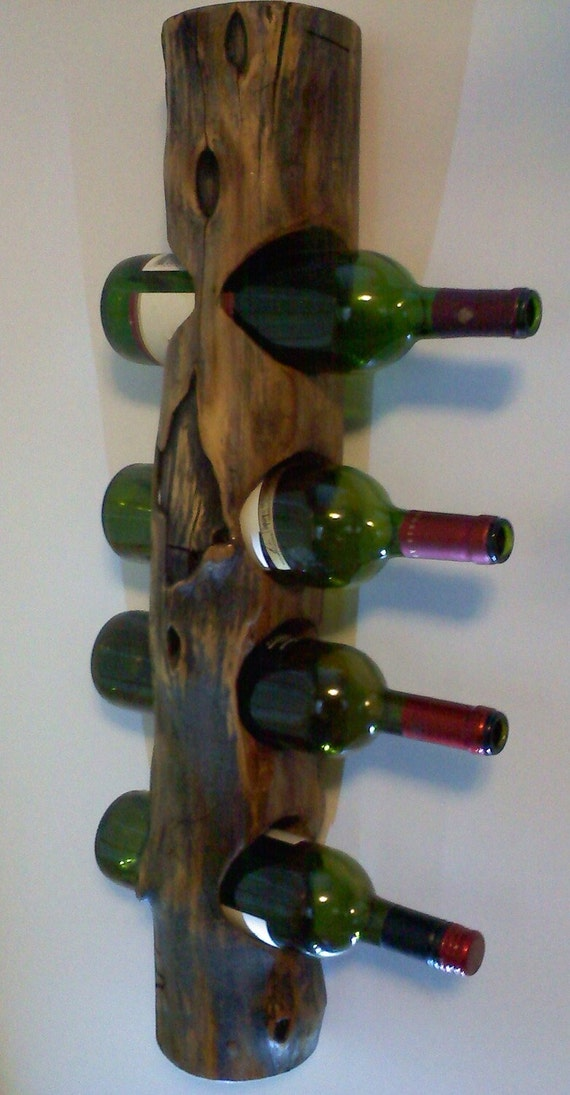 Unique wall hanging wooden wine rack Hanging wooden wine rack