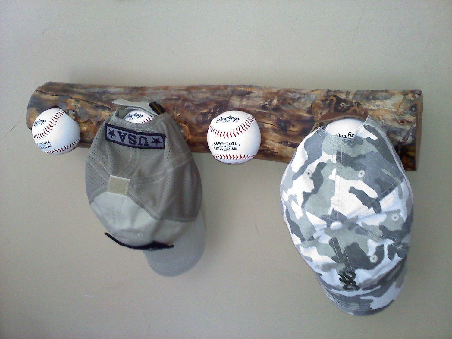 made in the usa baseball hat rack