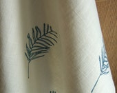 Blue Leaf Tea Towel