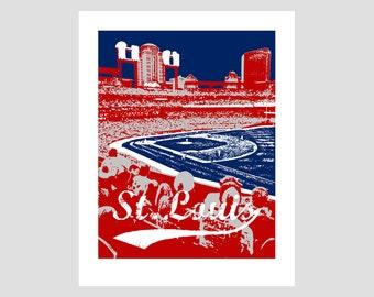 St Louis Cardinals Baseball Poster Print
