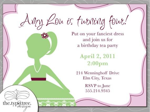Birthday Invitation for Girl - DIY Printable Invitation
