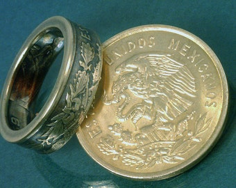 COIN RING  - (( Mexico 10 Centavos Coin )) - (Choose The Ring Size You Want)